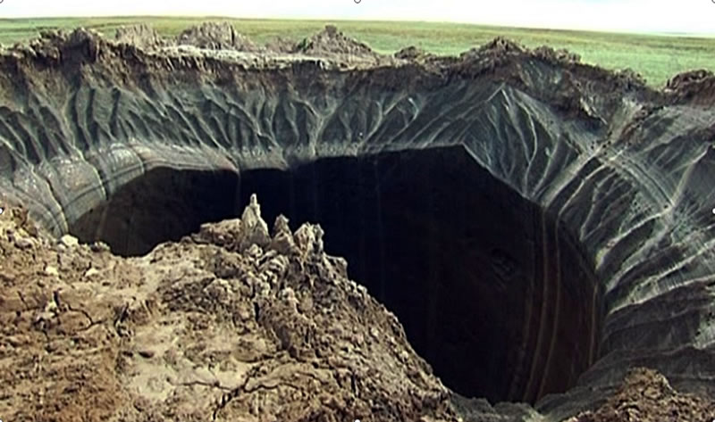 mysterious giant hole siberia