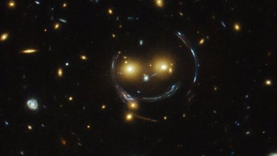 Hubble Telescope spots smiley face in space
