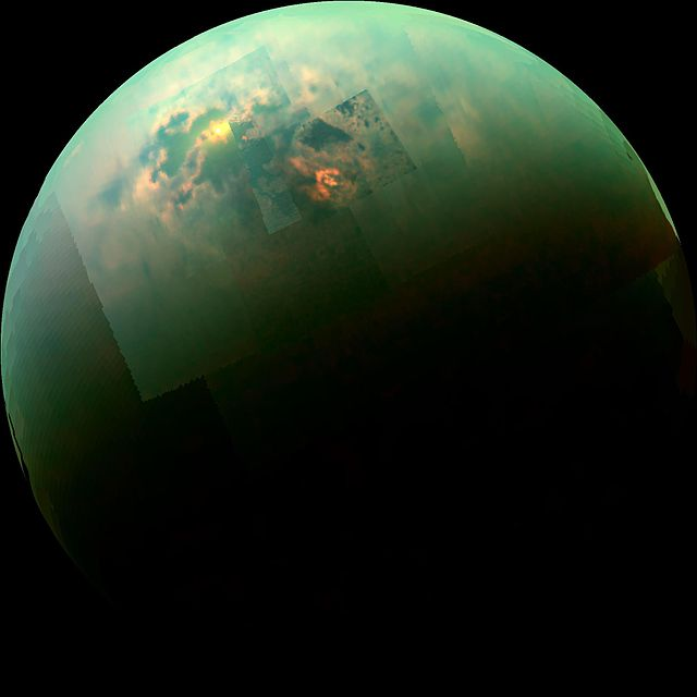 Titan, false colour