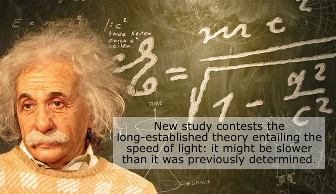 speed of light slower