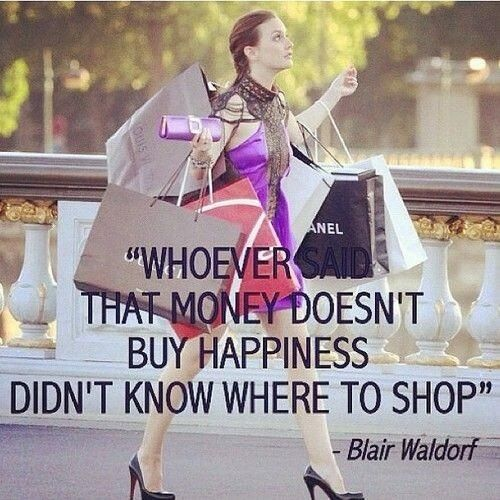 shopping and happiness