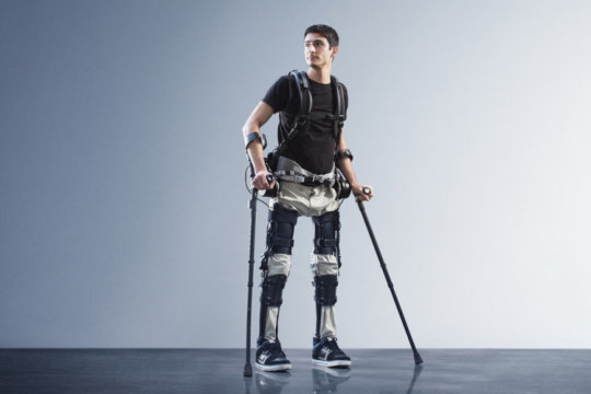 "Steven Sanchez, who was paralyzed from the waist down after a BMX accident, wears SuitX's Phoenix. ""If I had this it would change a lot of things,"" he says. Credit: Photo courtesy of SuitX"