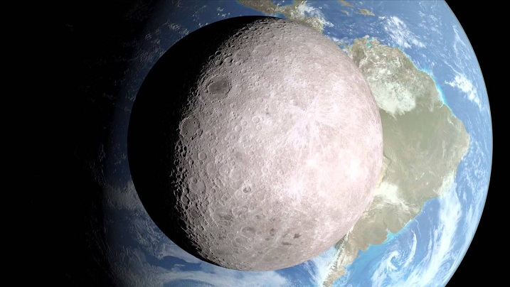 The far side of the moon; the side we never see. Photo credits: NASA | A View From The Other Side.