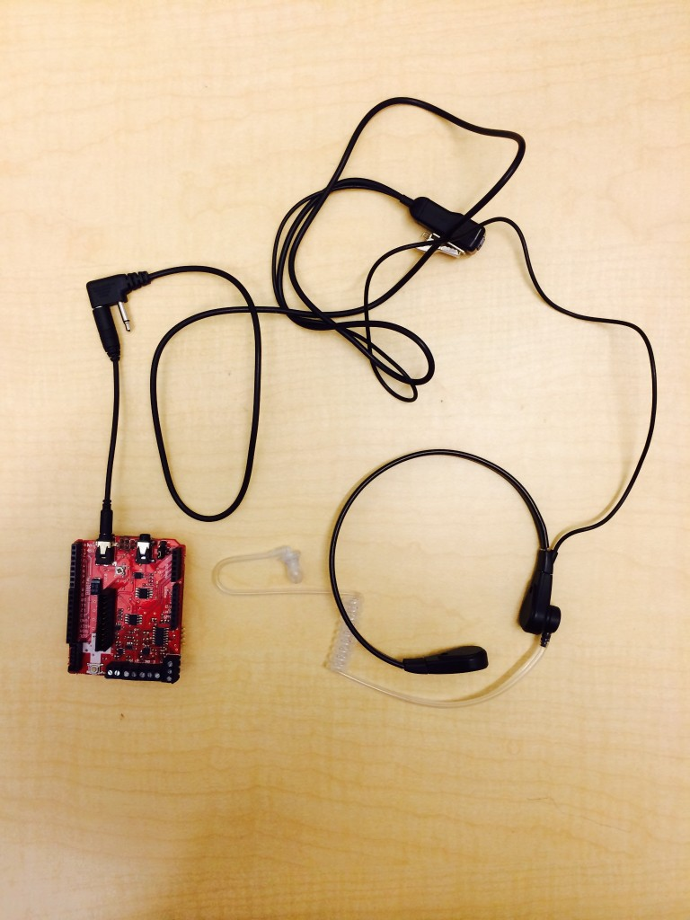 A prototype of the food-intake-tracking device. Photo credits: University at Buffalo.