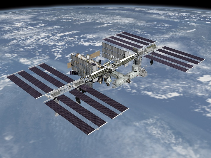 An artist's rendering of the fully assembled International Space Station, as it would appear from a spacecraft flying overhead. Photo credits: NASA - http://spaceflight.nasa.gov/gallery/images/station/issartwork/html/jsc2006e43519.html Via