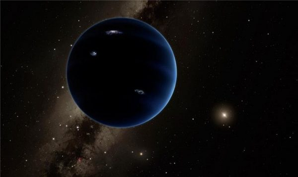 Artist's illustration of a possible ninth planet in our solar system. A recent study has revealed that the unexpected behavior of some Kuiper belt objects could be explained by the presence of a distant, planet-sized object yet undetected in our solar system. Credit: Caltech/Robert Hurt
