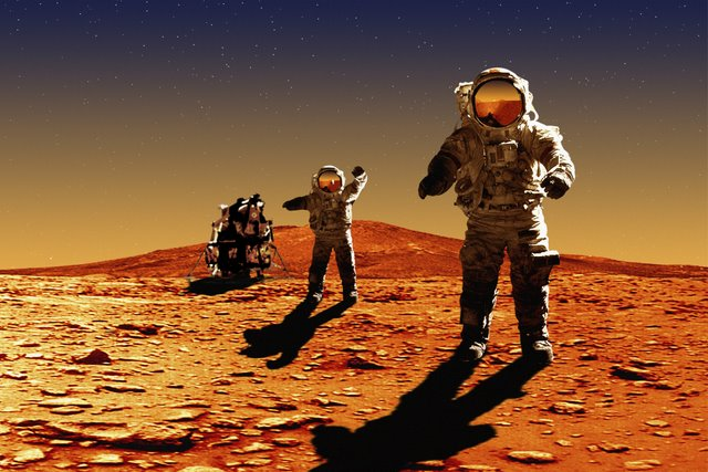 Astronauts On Mars bxp31687h